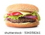 fresh hamburger | Shutterstock . vector #534358261
