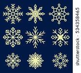snowflakes vector set | Shutterstock .eps vector #534358465