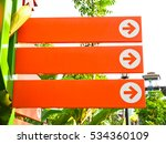 blank directional signs in the... | Shutterstock . vector #534360109