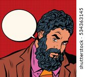 bearded african american black... | Shutterstock . vector #534363145