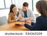 couple meeting financial...   Shutterstock . vector #534365209