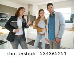 couple with real estate agent... | Shutterstock . vector #534365251