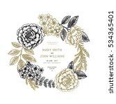 floral wedding invitation.... | Shutterstock .eps vector #534365401