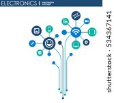 electronics mechanism. abstract ... | Shutterstock .eps vector #534367141