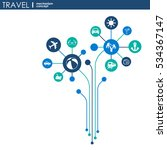 travel mechanism. abstract... | Shutterstock .eps vector #534367147
