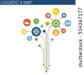 logistic mechanism concept.... | Shutterstock .eps vector #534367177