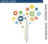 media mechanism concept. growth ... | Shutterstock .eps vector #534367354