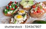 tasty and delicious bruschetta...   Shutterstock . vector #534367807