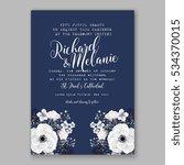 wedding invitation floral... | Shutterstock .eps vector #534370015