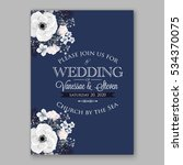wedding invitation floral... | Shutterstock .eps vector #534370075