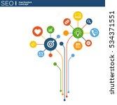 seo mechanism concept. abstract ... | Shutterstock .eps vector #534371551
