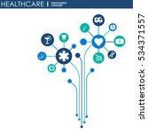 healthcare mechanism concept.... | Shutterstock .eps vector #534371557