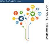 healthcare mechanism concept.... | Shutterstock .eps vector #534371644