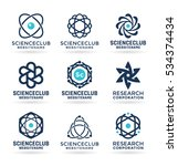 science symbols  atom and... | Shutterstock .eps vector #534374434