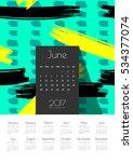 june 2017 creative vector...   Shutterstock .eps vector #534377074