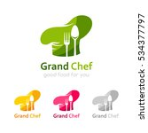 fecebed285bbf chef logo template. icon of... | Shutterstock .eps vector #534377797. set  of different chef hats.