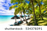 relaxing tropical scenery  ... | Shutterstock . vector #534378391