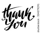 thank you handwritten... | Shutterstock .eps vector #534379291