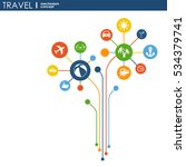travel mechanism. abstract... | Shutterstock .eps vector #534379741