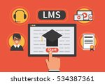 learning management system... | Shutterstock .eps vector #534387361