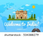 welcome to india poster with...   Shutterstock .eps vector #534388279