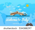 Italy Visit. Travel Poster...
