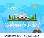 welcome to india poster with...   Shutterstock .eps vector #534388315