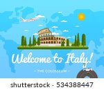 welcome to italy poster with... | Shutterstock .eps vector #534388447