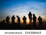 photographers silhouettes on... | Shutterstock . vector #534388465