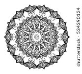 round ornamental mandala for... | Shutterstock .eps vector #534390124