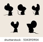 Mouse Silhouette Free Vector Art