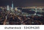 aerial shot of new york city ... | Shutterstock . vector #534394285