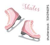 figured skates on a white... | Shutterstock .eps vector #534396091