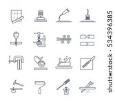 set of thin line icons... | Shutterstock .eps vector #534396385