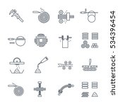 set of thin line icons... | Shutterstock .eps vector #534396454