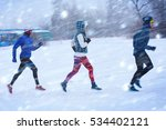 winter running competition... | Shutterstock . vector #534402121