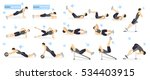 abs workout for men. man in... | Shutterstock .eps vector #534403915