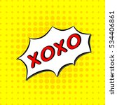 Xoxo   Comic Text  Pop Art...