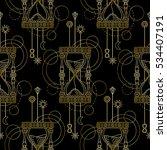 abstract techno seamless... | Shutterstock .eps vector #534407191