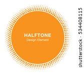 sunny circle halftone vector... | Shutterstock .eps vector #534408115