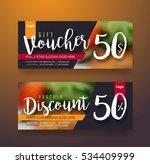gift voucher discount template... | Shutterstock .eps vector #534409999