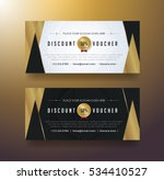 discount voucher template with... | Shutterstock .eps vector #534410527
