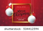 merry christmas sale background ... | Shutterstock .eps vector #534412594