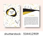 leaflet template with a... | Shutterstock .eps vector #534412909