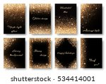 set glitter background with... | Shutterstock .eps vector #534414001