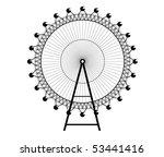 ferris wheel   big wheel  ... | Shutterstock .eps vector #53441416