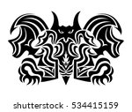 decorative black and white... | Shutterstock .eps vector #534415159