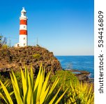 Small photo of Pointe aux Caves also known as Albion lighthouse. Mauritius
