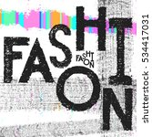 fashion art lettering font with ... | Shutterstock .eps vector #534417031