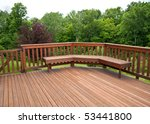 Redwood Stained Deck Boards...